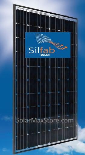 285w Silfab Mono Solar Panel Sla X Clear 285m Solarmax Direct