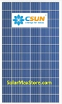 CSUN 275 Watt Poly Solar Panel - Clear Frame - 60-Cell