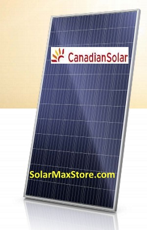 Canadian Solar 335 Watt MAXPOWER Poly Solar Panel | 72-Cell | Silver Frame