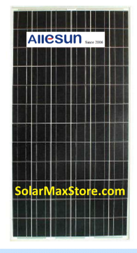 Allesun 325 Watt Poly Solar Panel | Clear Frame | White Backsheet (BoW) | 72-Cells