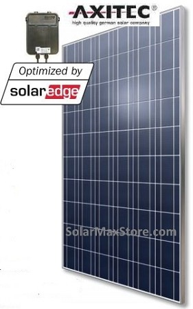 AxiPlus 265W SolarEdge Power Optimized Solar Panel - Black Frame
