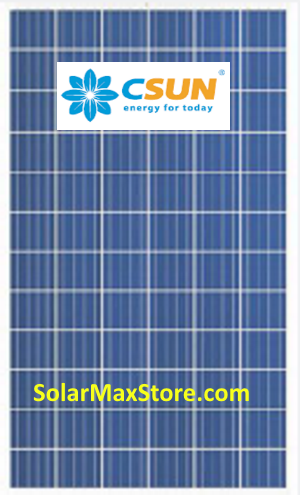 CSUN 320 Watt Poly Solar Panel Silver Frame - 72-Cell