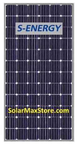 S-Energy 360 W Mono Solar Panel | Clear Frame | White Backsheet - BoW | 72 cell