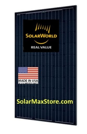 SolarWorld 285 Watt 60-Cell All Black Mono Solar Panel | BoB