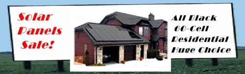 All Black High Efficiency Solar Panels on Sale