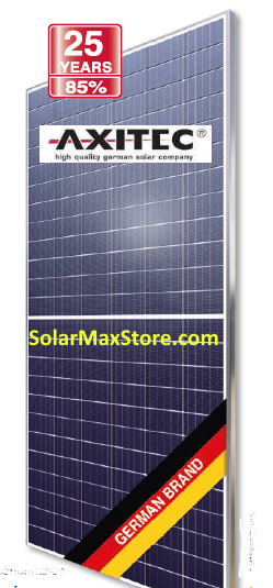 Axitec 385 Watt Mono Solar Panel | Clear Frame, White Backsheet | 72 Cell HC