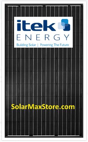 Itek 300 Watt P Type Mono Solar Panel Black Black 60