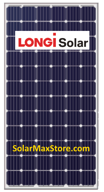 Longi 345 Watt Mono Solar Panel Clear Frame White
