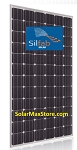Silfab 370 Watt Mono Solar Panel - Silver Frame - White Backsheet  | 72-Cell