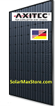 Axi-BlackPremium HC 315W Mono Solar Panel | Black Frame | Black Backsheet - BoB | 60 Cell HC