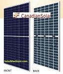 Canadian Solar 395 W Poly BiFacial Solar Panel | Clear Frame | White Backsheet |144 Half Cells