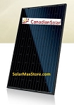 Canadian Solar 275 Watt Mono Solar Panel 60-Cell - Black Frame/Black Backsheet