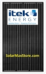 Itek 300 Watt All Black Mono Solar Panel  | Black Frame | BoB | 60 Cell