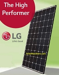 LG 350 Watt NeON-R Mono N-Type Solar Panel | Black Frame | 60-Cell