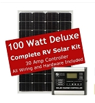 Zamp Solar 100 Watt Deluxe Roof Mounted Solar Kit