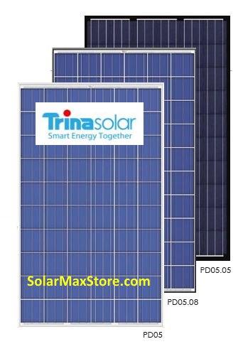 Trina 255 Watt Poly Solar Panel All Black Tsm 255pd05 05