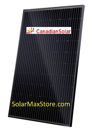 Canadian Solar 320 Watt High Density Mono-PERC Solar  Panel | All Black | 60 Cell