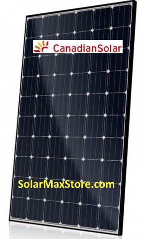 Canadian Solar 300 Watt Mono-PERC Solar Panel | Black Frame - BoW | 60-Cell