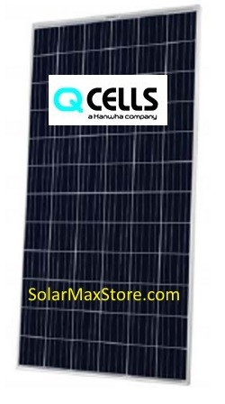 HANWHA Q CELLS PLUS USA 325 W POLY SOLAR PANEL - SILVER FRAME