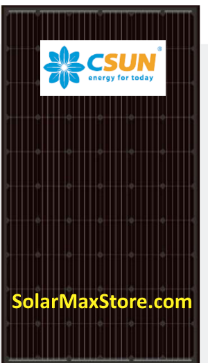 CSUN 300 Watt Mono Solar Panels | Black Frame | Black Backsheet - BoB | 60 Cell