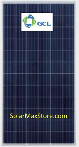 GCL Solar 325 W Poly Solar Panel, Silver Frame, White Backshett - 72-Cells