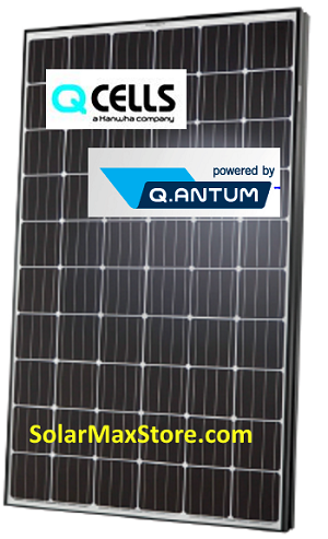Hanwha Q.Cells Q.PEAK 295W 60-Cell Mono Solar Panel - Black Frame | BoW