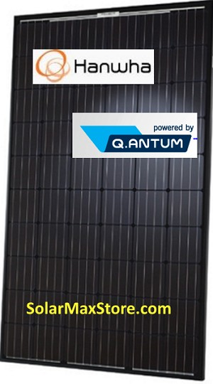 HANWHA Q CELLS USA 295W All Black  Mono Solar Panel Q.PEAK BLK |  BoB | 60 Cell