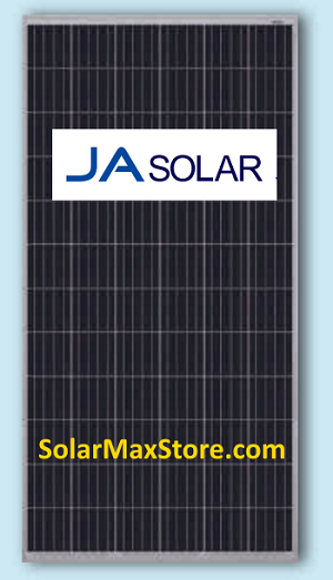 JA Solar 315 Watt Poly Solar Panel | Clear Frame | White Backsheet | 72 Cell