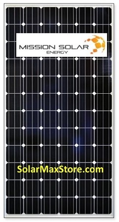 Mission Solar 335w Mono Solar Panel Silver Frame Mse335s1a