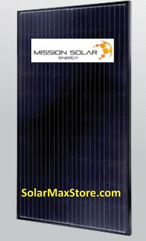 Mission Solar 310 Watt Mono PERC Solar Panel | Black Frame | Black Backsheet - BoB | 60 Cell