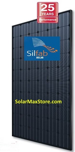 Silfab 290 Watt Mono Solar Panel | Black Frame | Black Backsheet -BoB | 60-Cell