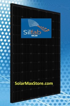 Silfab 285 Watt Mono Solar Panel - All Black - 60 Cell
