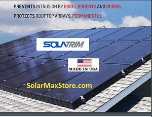 SolaTrim Pest Animal Barrier For Roof Top Solar Systems