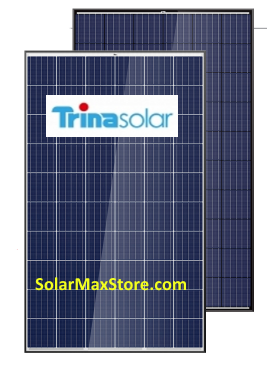 TrinaSolar ALLMAX 260 Watt Poly Solar Panel - Black Frame, BOW