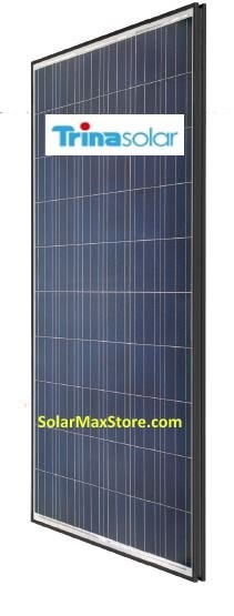 Trina 250 Watt Poly Solar Panel - Black Zep Frame | White Backsheet - BoW | 60 Cell
